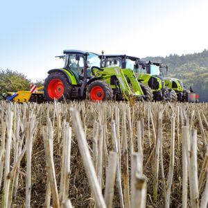 CLAAS Traktor im Einsatz