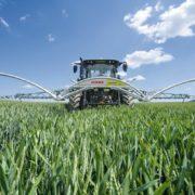 CLAAS Arion 500 + Crop Sensor - Precision Farming