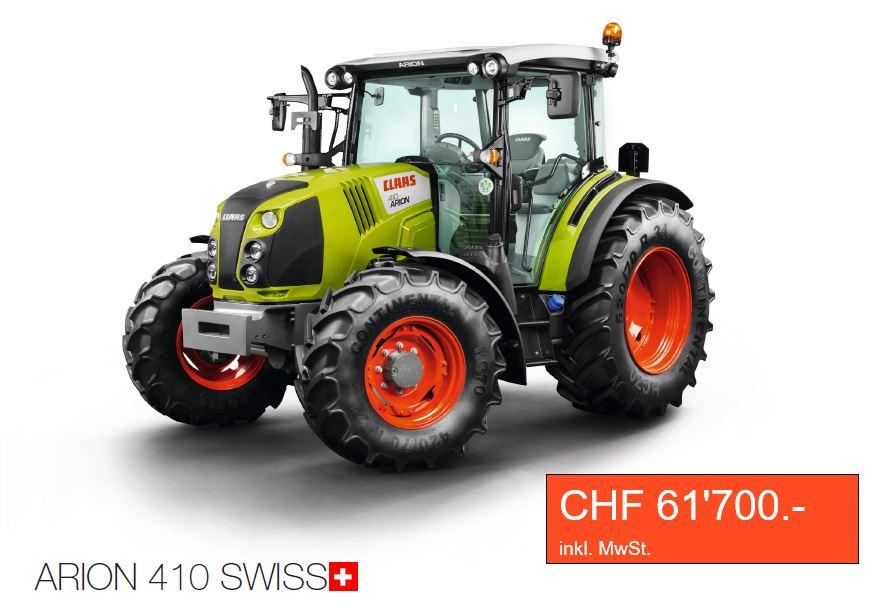 traktor kaufen claas arion 410 swiss m ller siblingen gmbh. Black Bedroom Furniture Sets. Home Design Ideas