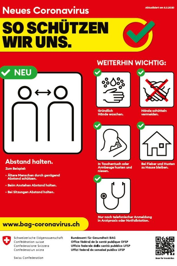 Coronavirus - so schützen wir uns