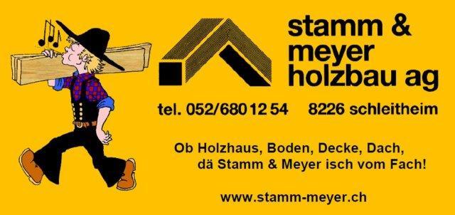 Logo Stamm & Meyer Holzbau AG - Partner der Landtechnik Müller