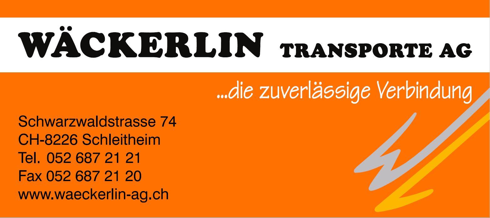 Wäckerlin Transporte AG Logo - Partner Müller Siblingen, Gewerbe Schaffhausen