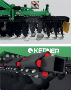 Kerner HELIX 300 Kurzscheibenegge - Aufbau Gummigelagerte Einzelarmaufhängung
