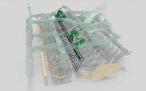 Kerner HELIX 300 Kurzscheibenegge - Aufbau Prallstriegel