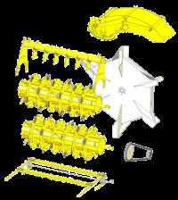 Castor R Verteilwagen und Einstreuwagen